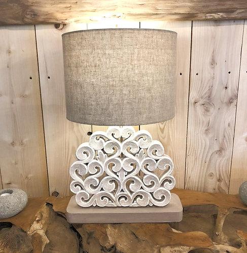 Lampe bois sculptée NUAGE