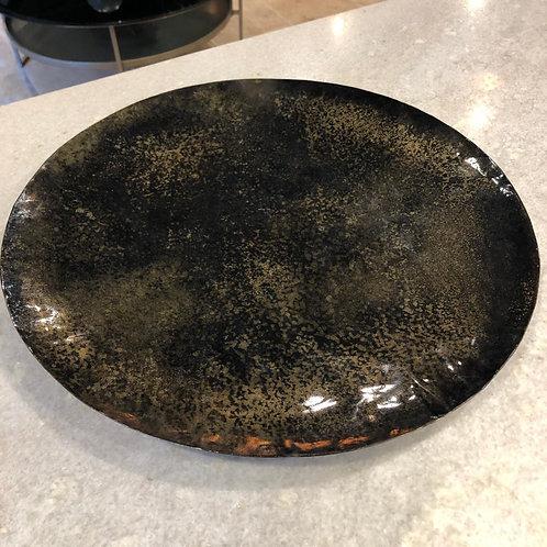 Plat rond métal OXYDE