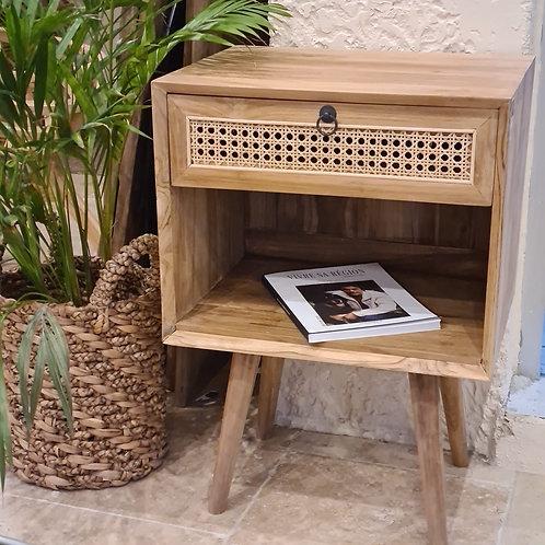 Table de chevet ( tiroir + étagère)