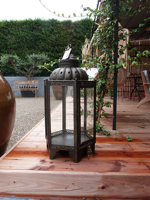 Lanterne hexagonale métal
