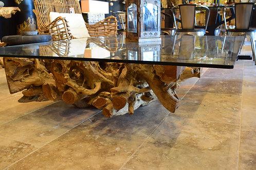 Table basse en racine de teck 180x140