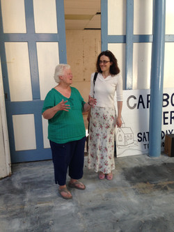 Jean Corney (Trustee) showng our MP Theresa Villers around