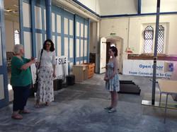 Theresa Villiers, Jean Corney and Jenny Blyth (Fairs Organiser)