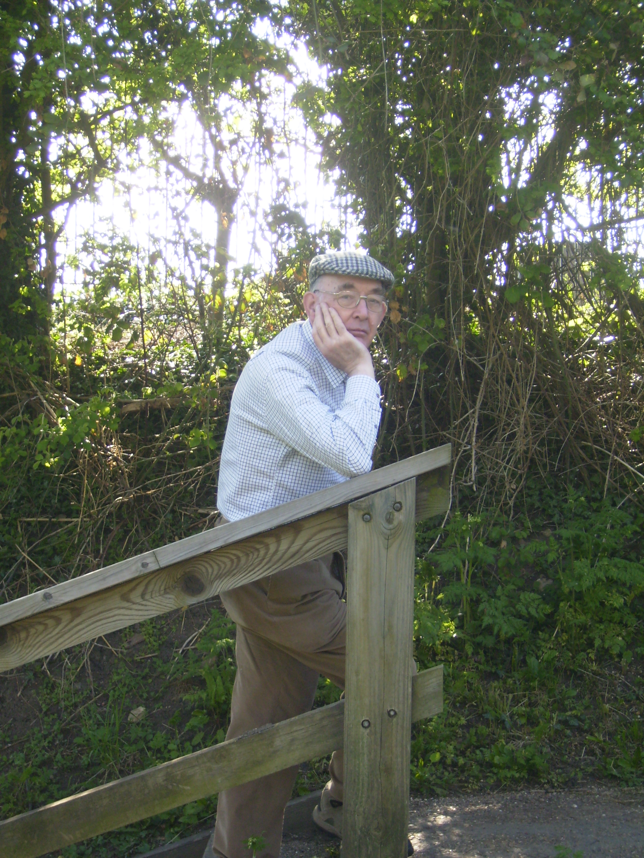 Vic Corney Contemplating his somewhat long fundraising walk!