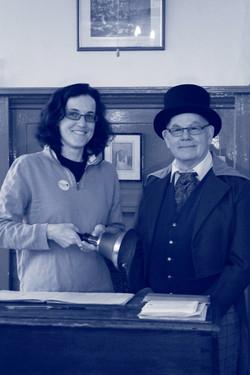 Our MP Theresa Villiers meeting the Head Teacher!
