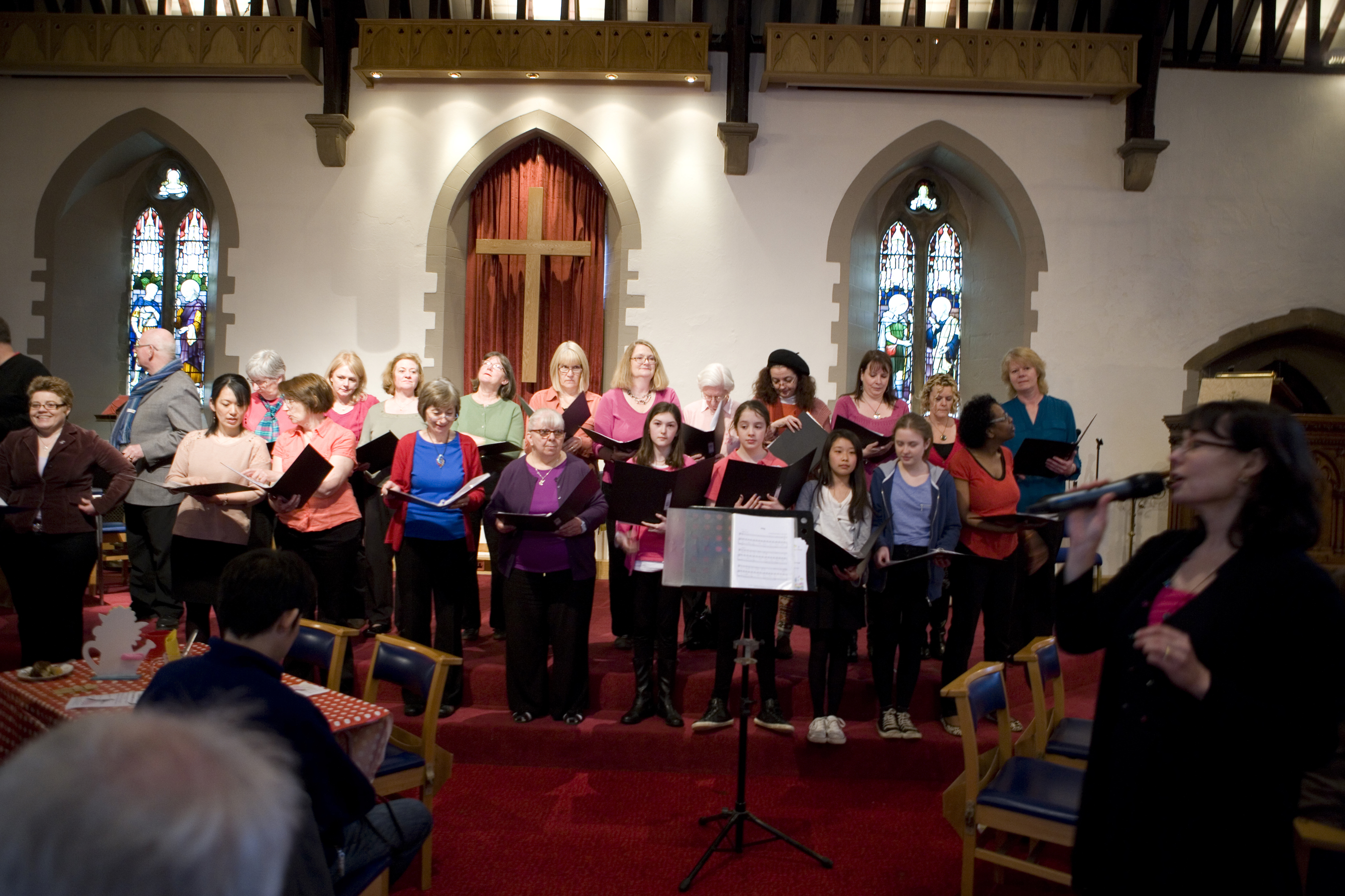 Christ Church Community Choir performs at the fair