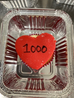To celebrate the 1000 meal! Lovely biscuits!