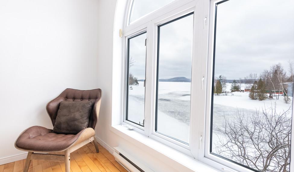 chambre avec vue imprenable sur le lac!
