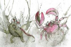 Tränenteichtiere – Maus und Krabbe