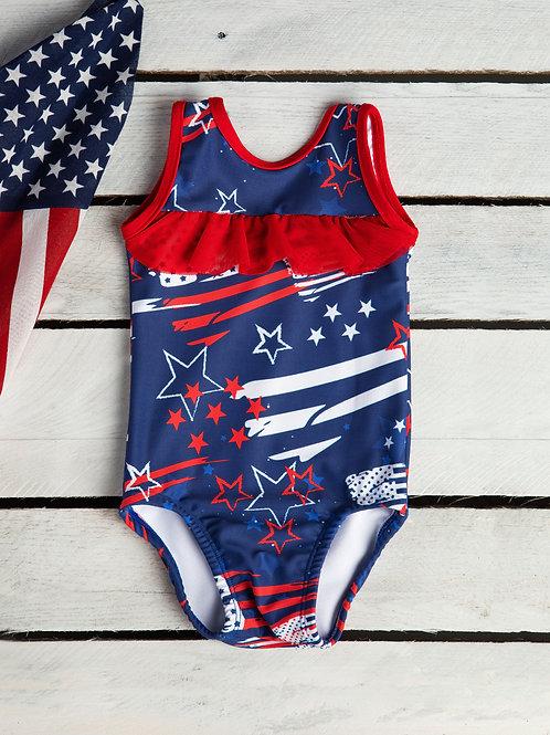 Firecracker Ruffle Front Swimsuit