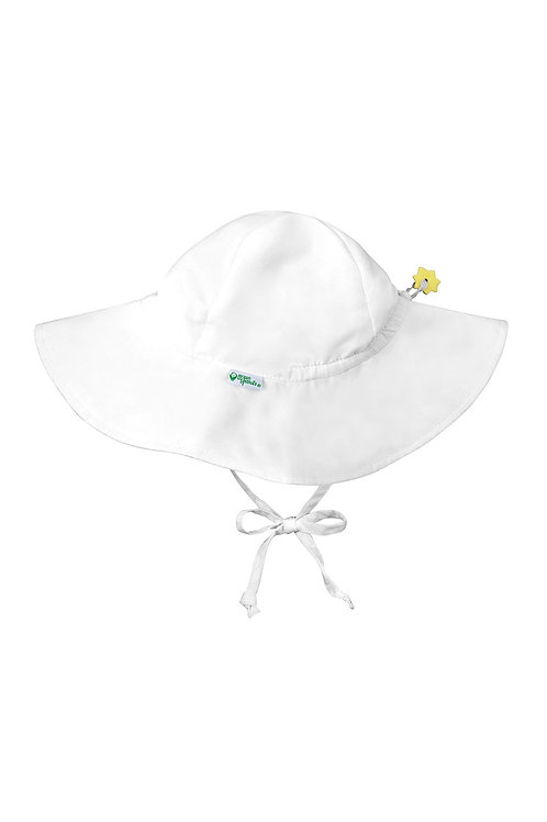 Green Sprouts Brim Sun Protection Hat White