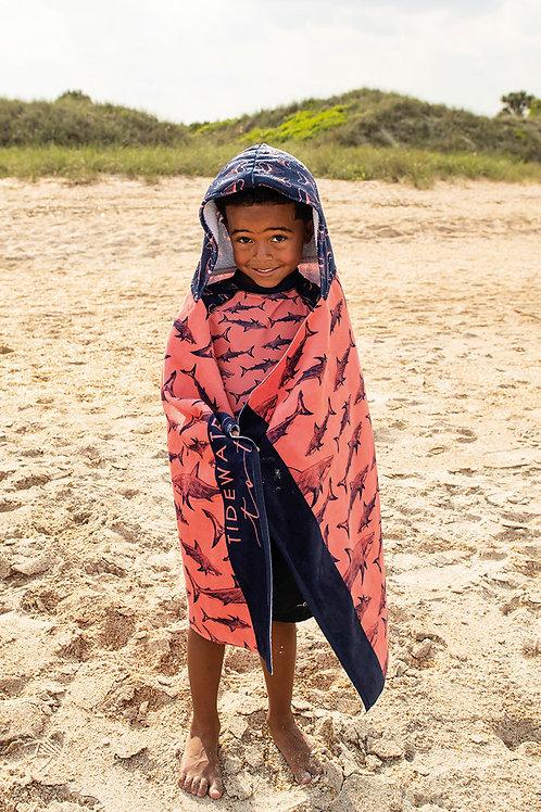 Shark Bite Youth Hooded Towel