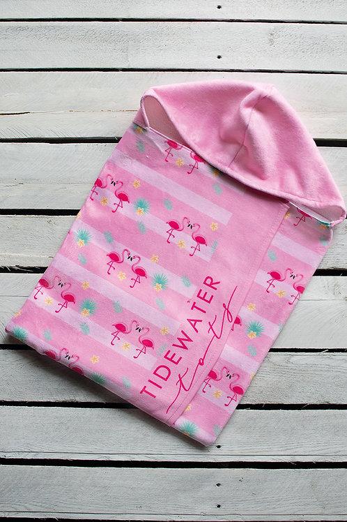 Flirty Flamingo Youth Hooded Towel