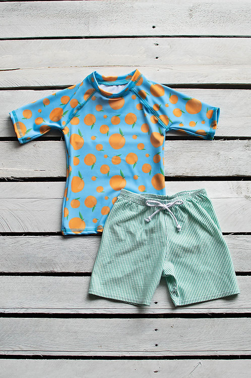 Squeeze the Day Short Sleeve Sun Shirt and Short Set