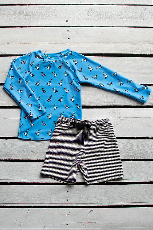 Pelican Long Sleeve Sun Shirt and Short Set