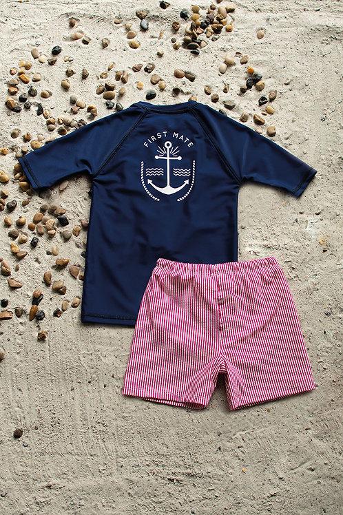 Crew Mates Short Sleeve Sun Shirt with Short Set
