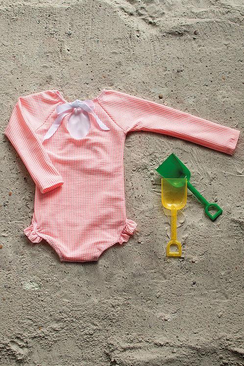 Cowabunga Babe Long Sleeve Swimsuit
