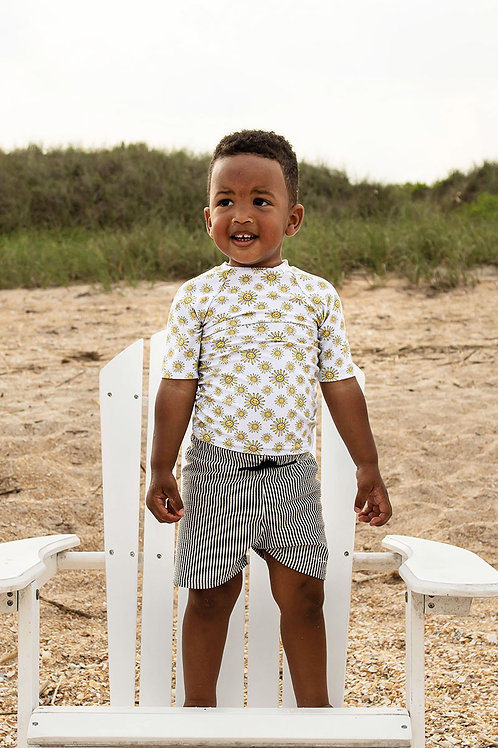 Sunkissed Short Sleeve Sun Shirt with Short Set