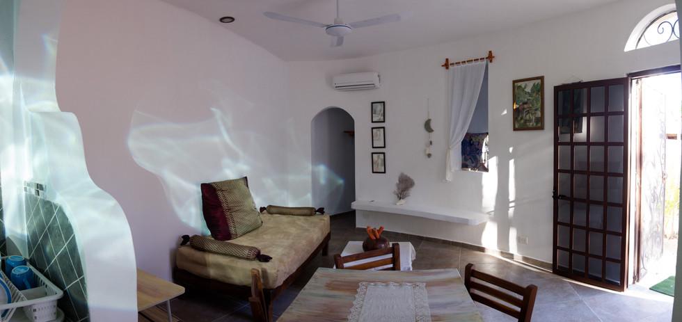 superbe séjour l'appartement très bien équipé, propre et spacieux