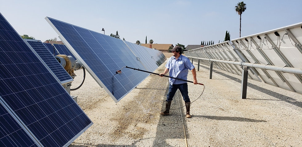 Commercial Solar Cleaning Service