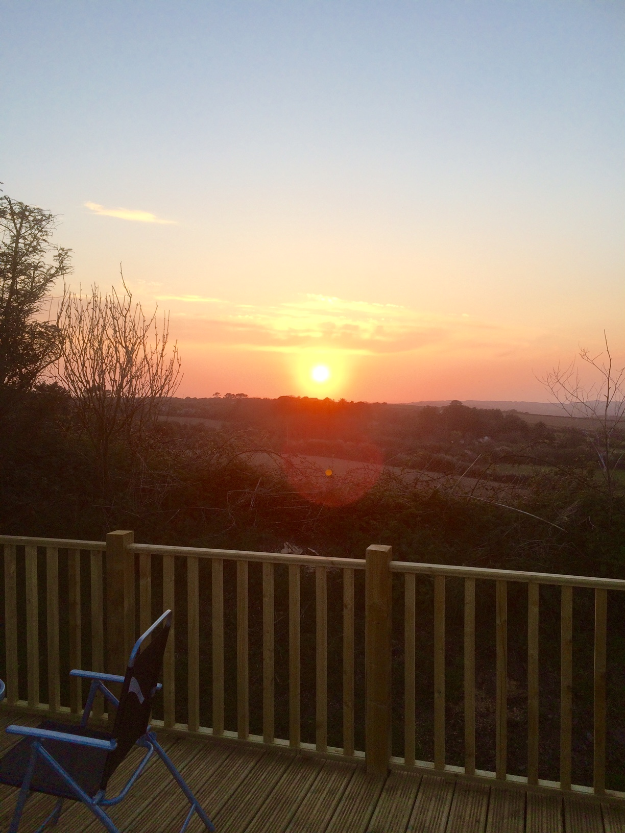 Sunset from Silver Holiday Home