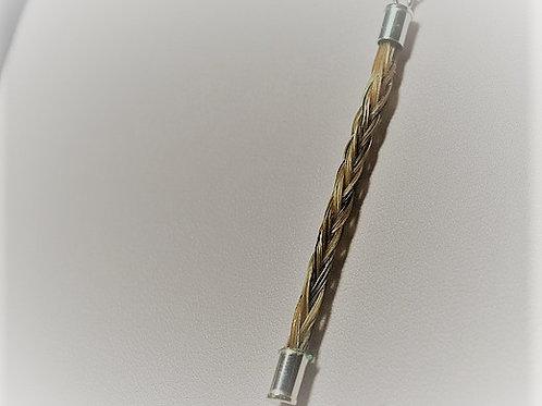 Slim square braid pendant
