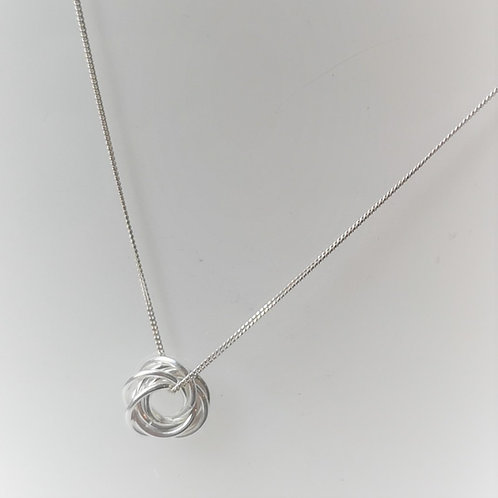 Sterling Silver infinity loop on a Sterling Silver chain