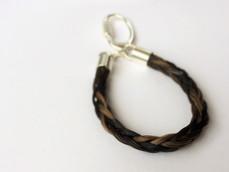 Braided key ring