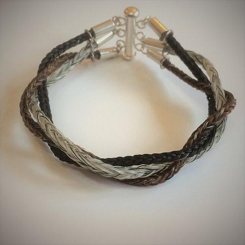 Triple Square braid bracelet