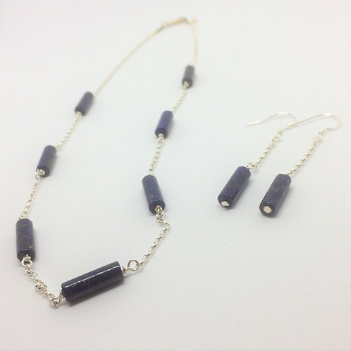 Lapis Lazuli necklace & Earrings (available separately)
