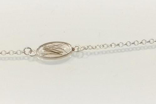 Open back resin in Sterling Silver bracelet
