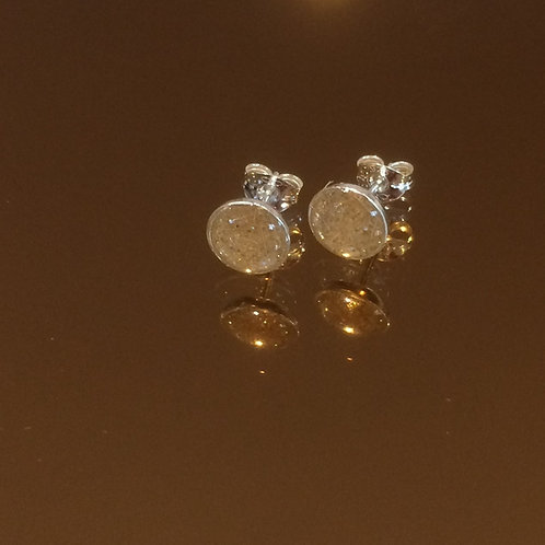 Sterling Silver 6 mm stud earrings with resin