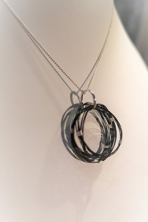 Horse hair infinity loops with Sterling Silver
