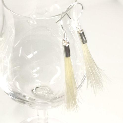 Horse hair tassel earrings
