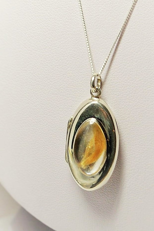 Sterling Silver Locket set with resin