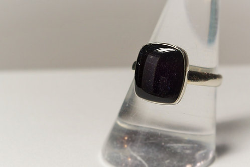 Sterling Silver Square ring set with resin