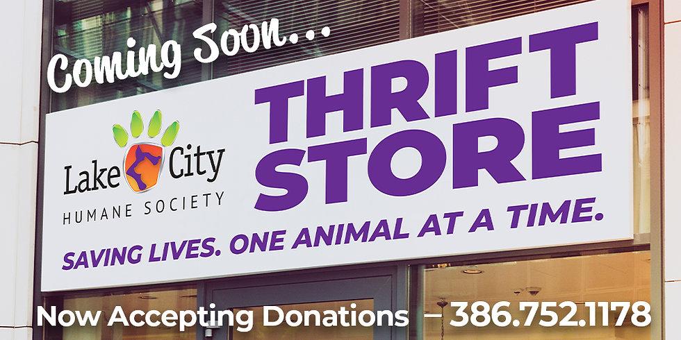 Website Hero - Coming Soon Thrift Store.