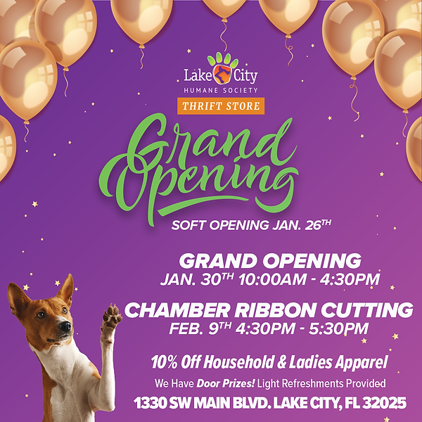 Social Post - Thrift Store Grand Opening
