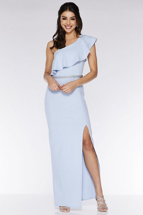 Очаровательное платье нежно-голубого цвета