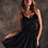 Thumbnail: Короткое чёрное вельветовое платье