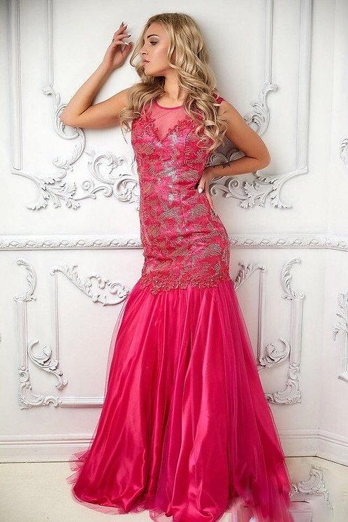Мерцающее платье цвета фуксия