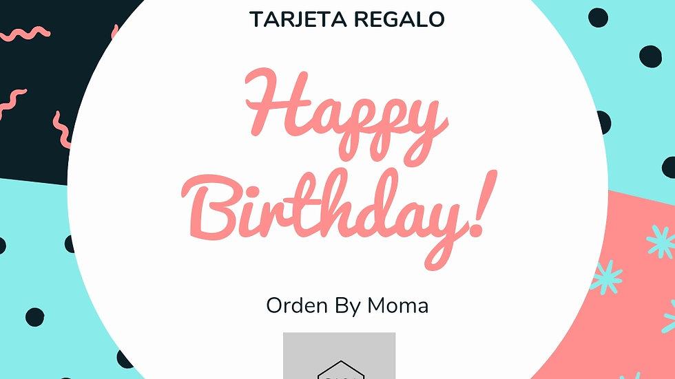Tarjeta Regalo Orden by Moma