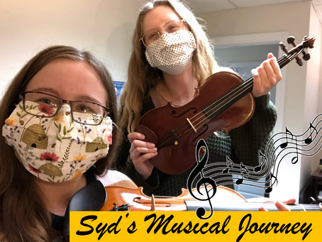 Syd's Musical Journey -- Syd Learns the Violin with Lauren!