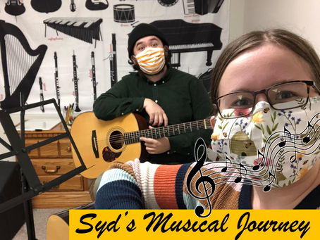 Syd's Musical Journey -- Syd Learns Guitar with Andrew!
