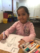 Preschool Child coloring
