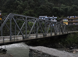 Metal bridge to Nayapul, Annapurna region, Nepal