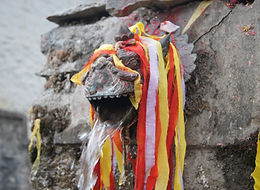 One of the 108 spouts at Muktinath Temple, Mustang, Nepal