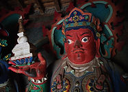 Statue in Khumbum Gompa, Gyantse, Tibet