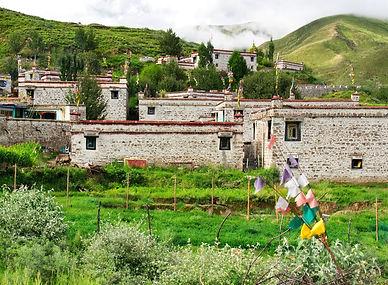 Tibetan Village near Lhasa, Tibet