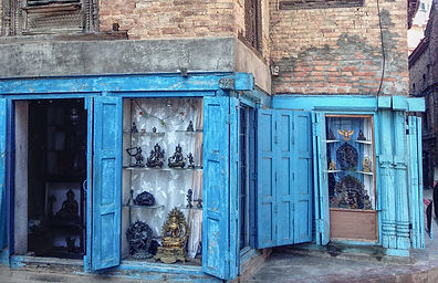 Local shop seling statues in Patan, Nepal